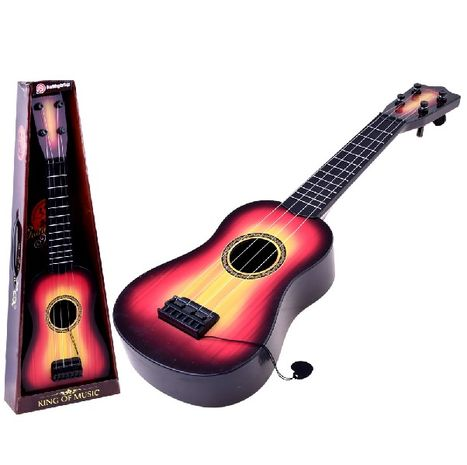 Dětská kytara s kovovými strunami
