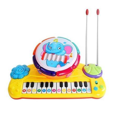 Dětský klavír s bubnem