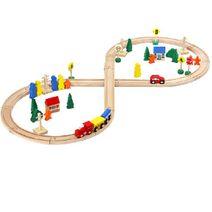 Dřevěná železnice 50 ks