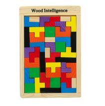 Dřevěné puzzle Tetris 40 ks