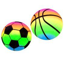 Duhový gumový míč - sada 2 ks
