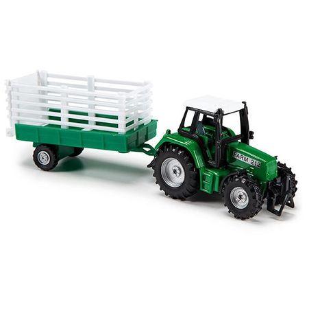 Farmářský traktor 18 cm s vlečkou