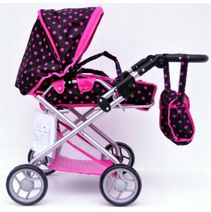 Hluboký kočárek pro panenky Baby Mix 9379-M1218