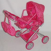 Hluboký kočárek pro panenky Baby Mix 9379-M1422