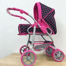 Hluboký kočárek pro panenky Baby Mix 9661-M1218