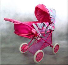Hluboký kočárek pro panenky Iga Lux