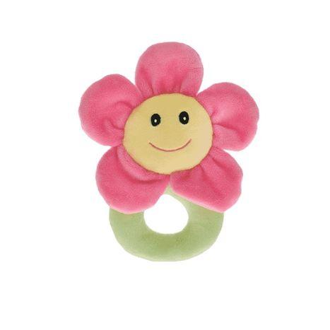Plyšové chrastítko květinka Baby's Happiness