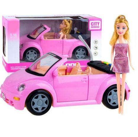 Růžový kabriolet Garbusek s panenkou