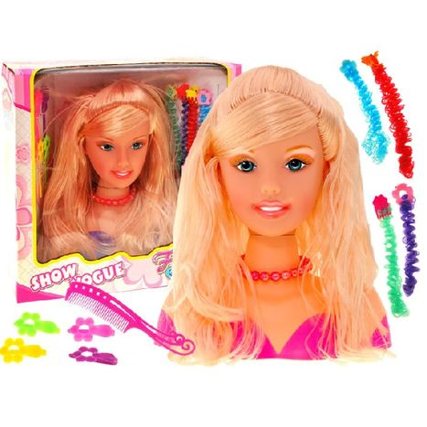 Stylová česací hlava blond