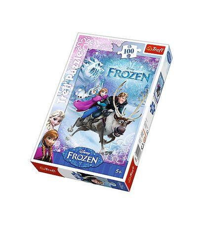 TREFL Puzzle Frozen ledové království 100 dílny - záchrana Anny