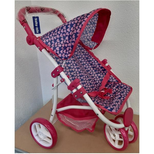 Sportovní kočárek pro panenky Baby Mix 9671-M1809W