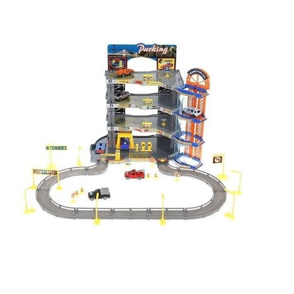 Super garáž 4 patrová s výtahem - akce: pokrčená krabice