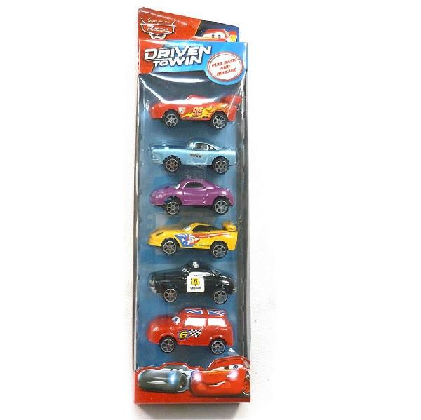 Levně Souprava aut Cars 6 ks