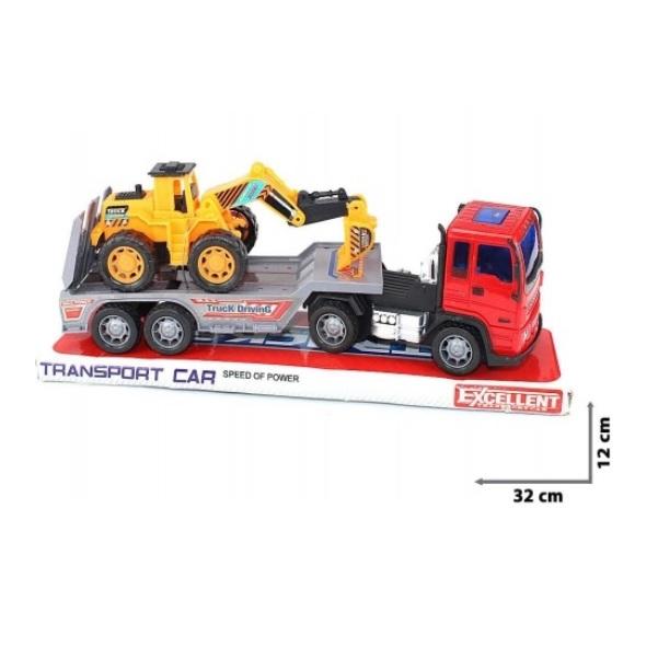 Souprava kamion + nakladač - žlutá
