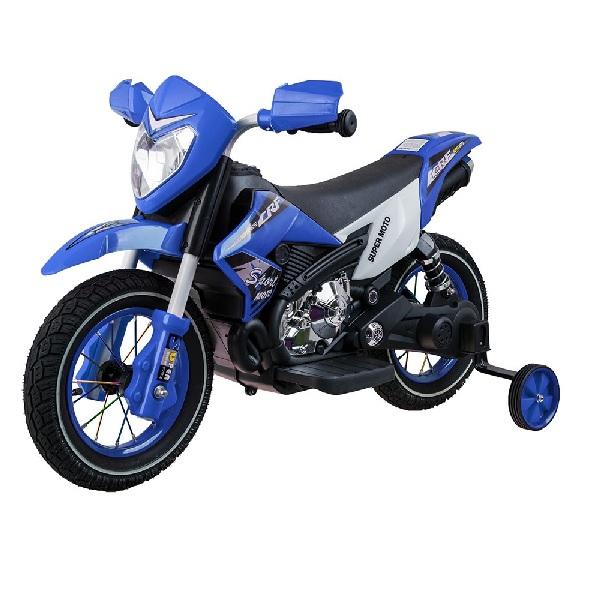 Terénní elektrická motorka Cross modrá
