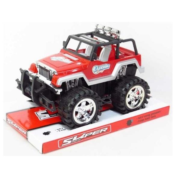 Terénní auto Jeep na setrvačník - červená