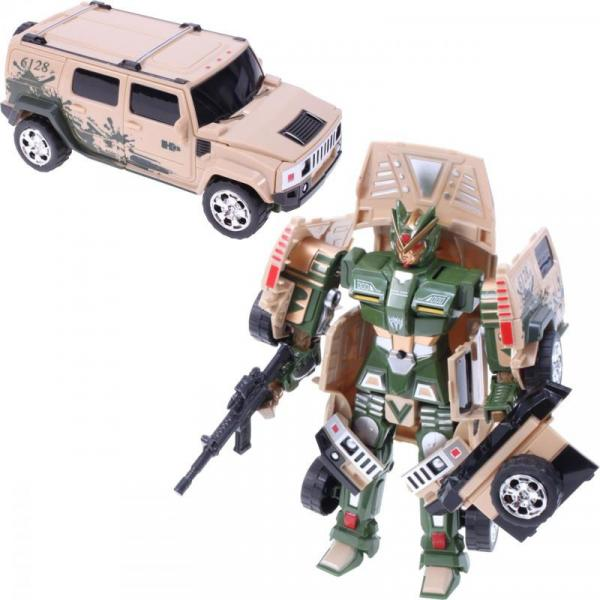 Transformer - robot JEEP - béžová