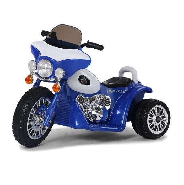 Tříkolová elektrická motorka modrá
