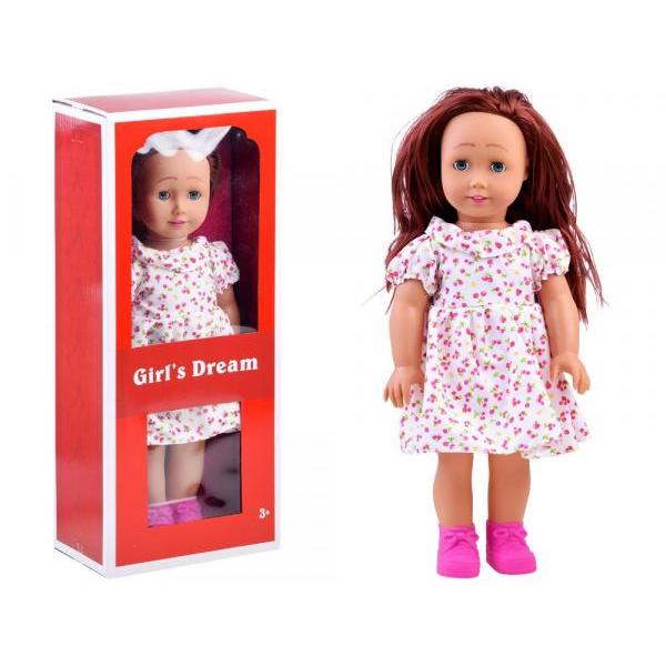 Velká panenka v šatech s třešněmi 45cm