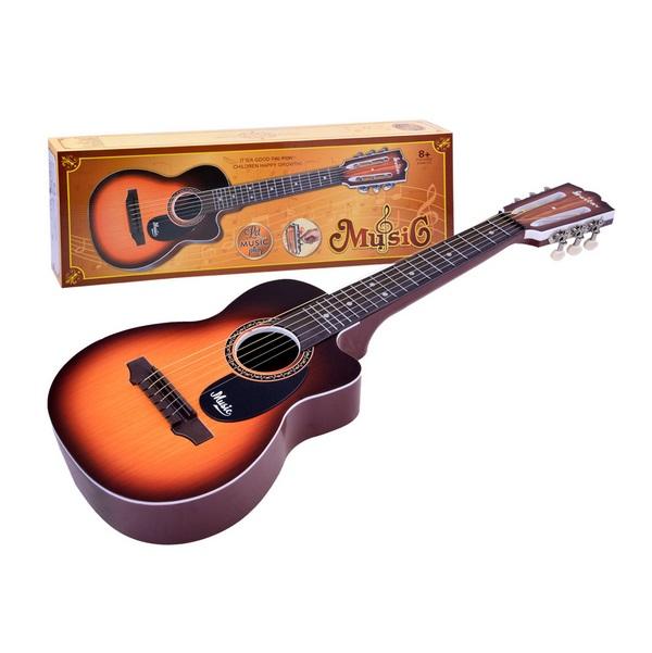 Velká dětská kytara - světlehnedá