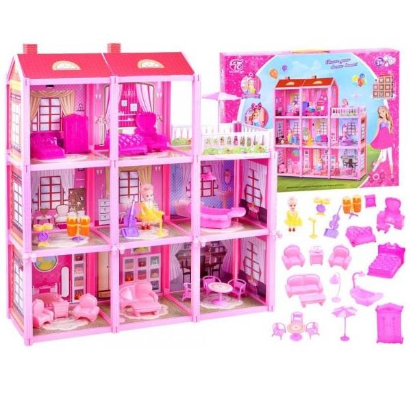 Velký domeček s panenkou a nábytkem
