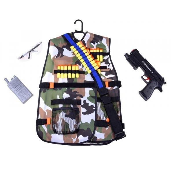 Vojenská vesta s doplňky